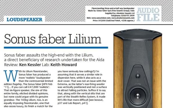 Sonus Faber Lilium - напольная акустическая система  Купить